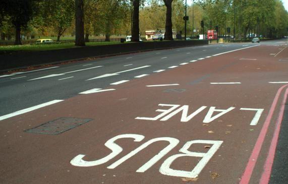 Bike vs Bus in the bus lane?