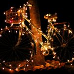A very lit up bike