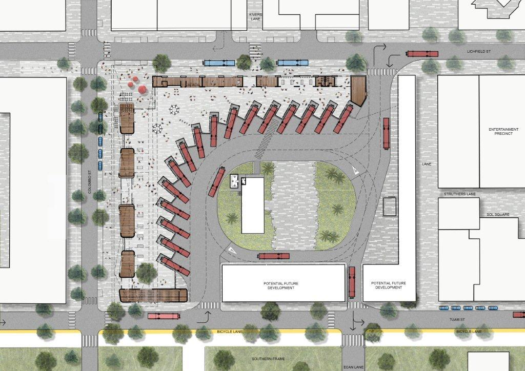 Plans For New Bus Interchange Cycling In Christchurch