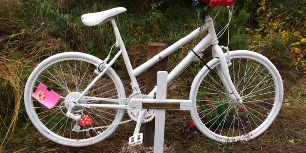 We'd like to see more bikes ridden and fewer bikes as memorials (c/ NZ Herald)