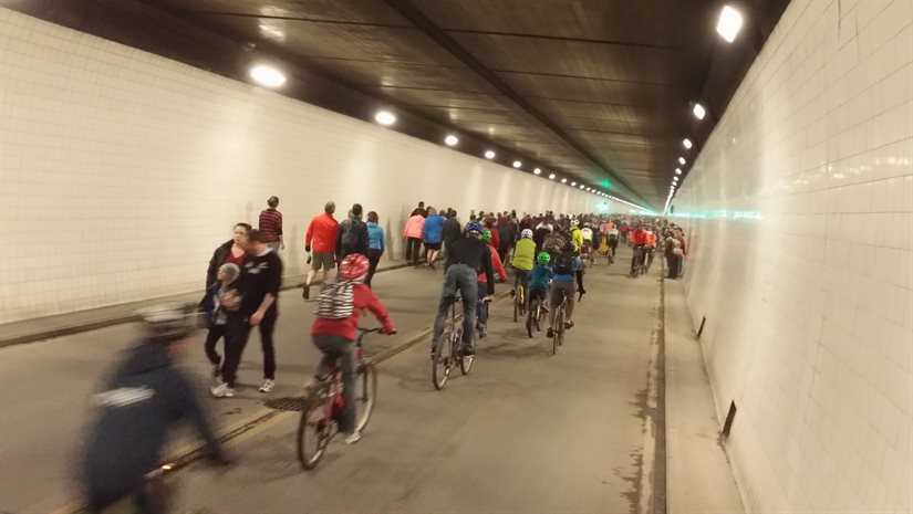 Lyttelton Tunnel Walk/Ride in Pictures