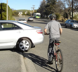 Defensive cycling: Looking left