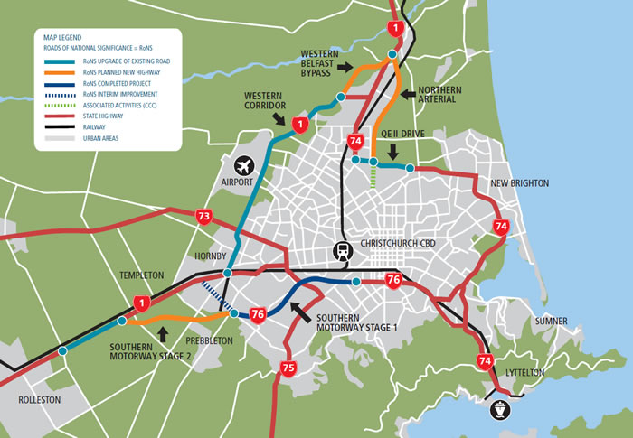 State Highways in Chch; NZTA's problem, not the Council's