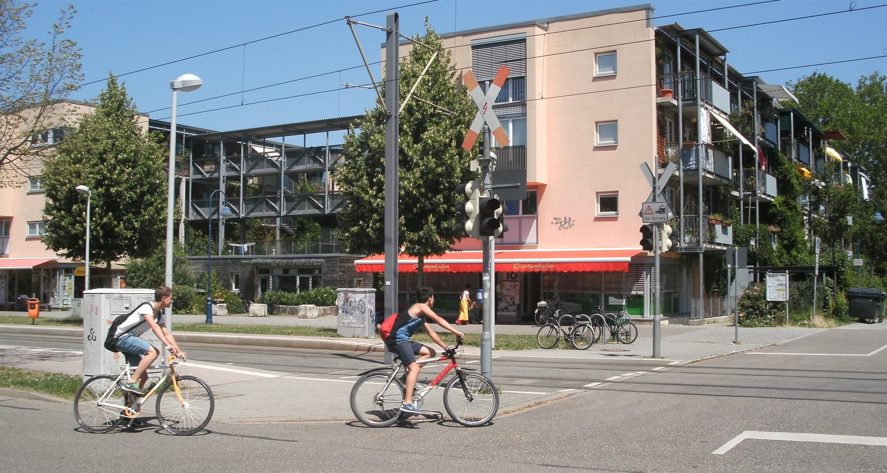 4d90f7e11 The central axis of Vauban features commercial activities mixed with  residential living