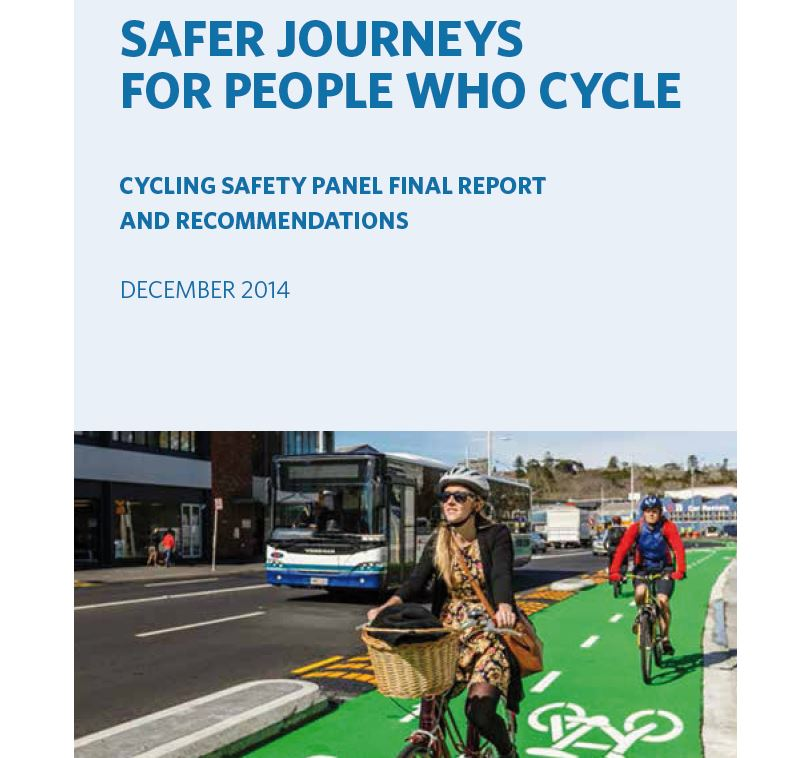 Progress on Cycle Safety Panel Recommendations