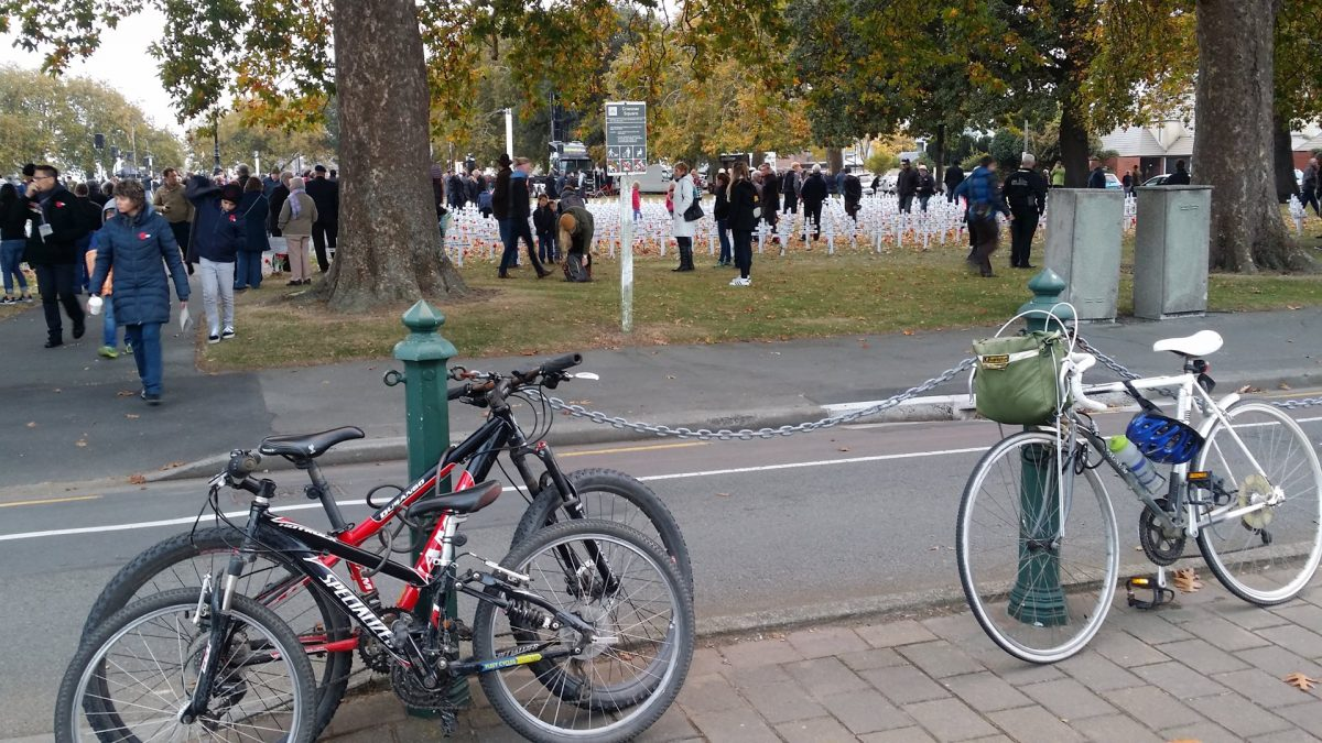 Photo of the Day: Anzac Day Bike Parking