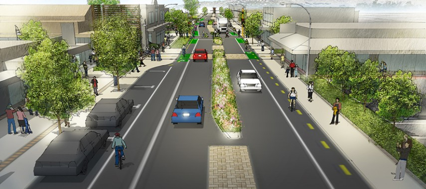 Ferry Road Streetscape Improvements at Woolston Village