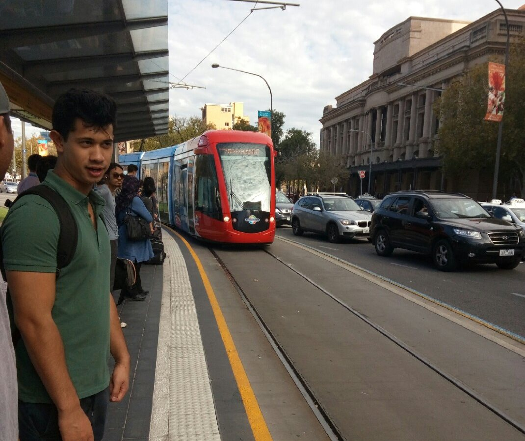 The tram is popular in central Adelaide