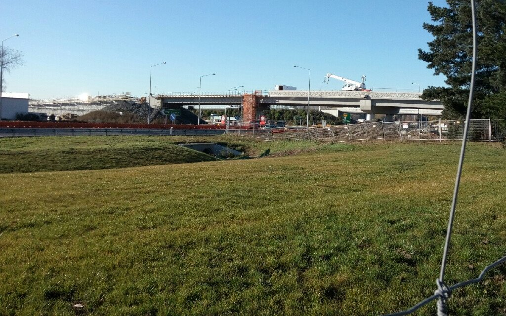 The new overbridge takes shape
