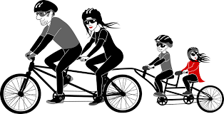 family-on-bikes-tag-along-illustration