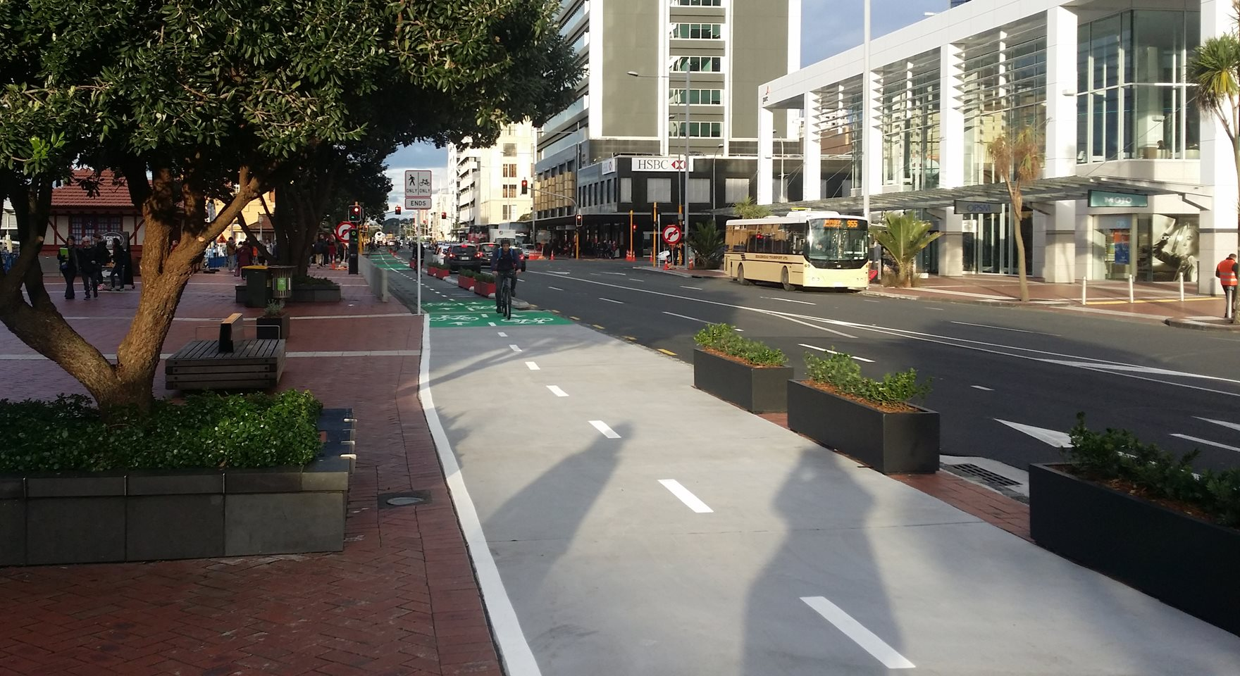 Hot off the press: Quay St Cycleway now open
