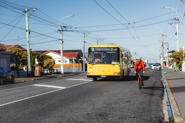 Soon that bus might be able to pass using the flush median as well (c/ NZTA)
