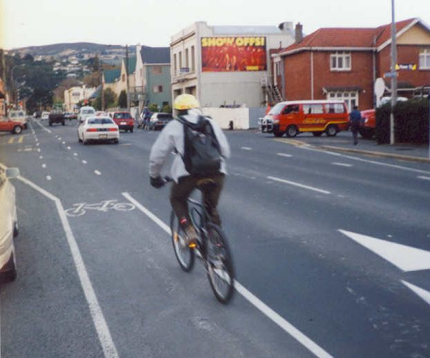 Not that long ago, these cycle lanes didn't have any legal significance...