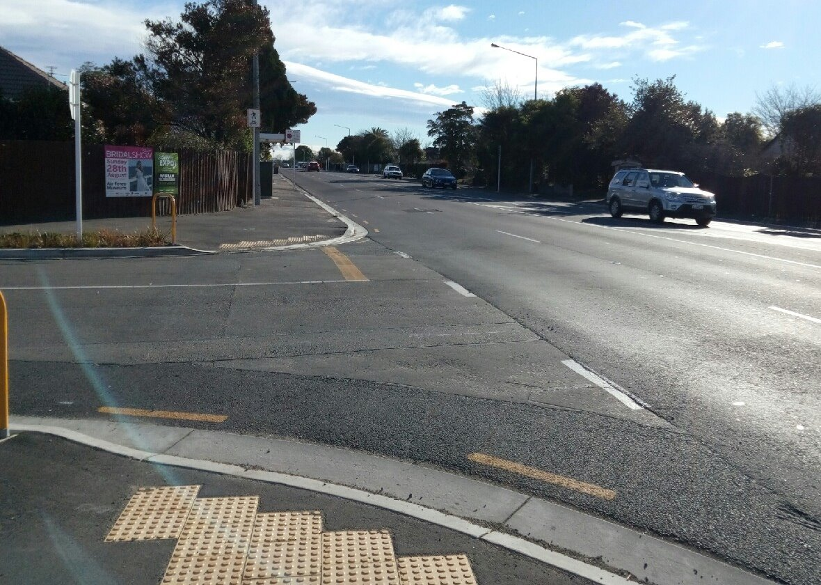 The side road crossings along Curletts Rd aren't that great either