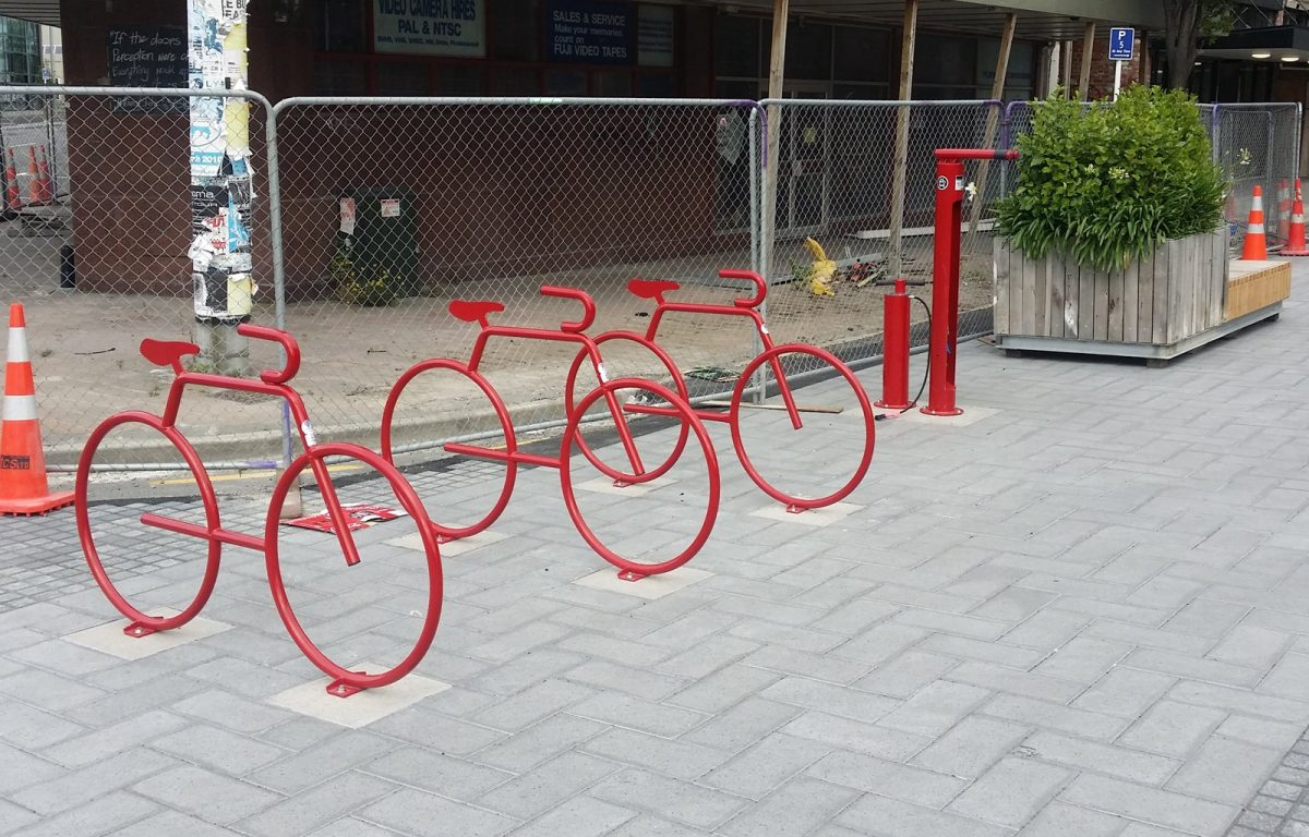 Photo of the Day: New CBD bike parking