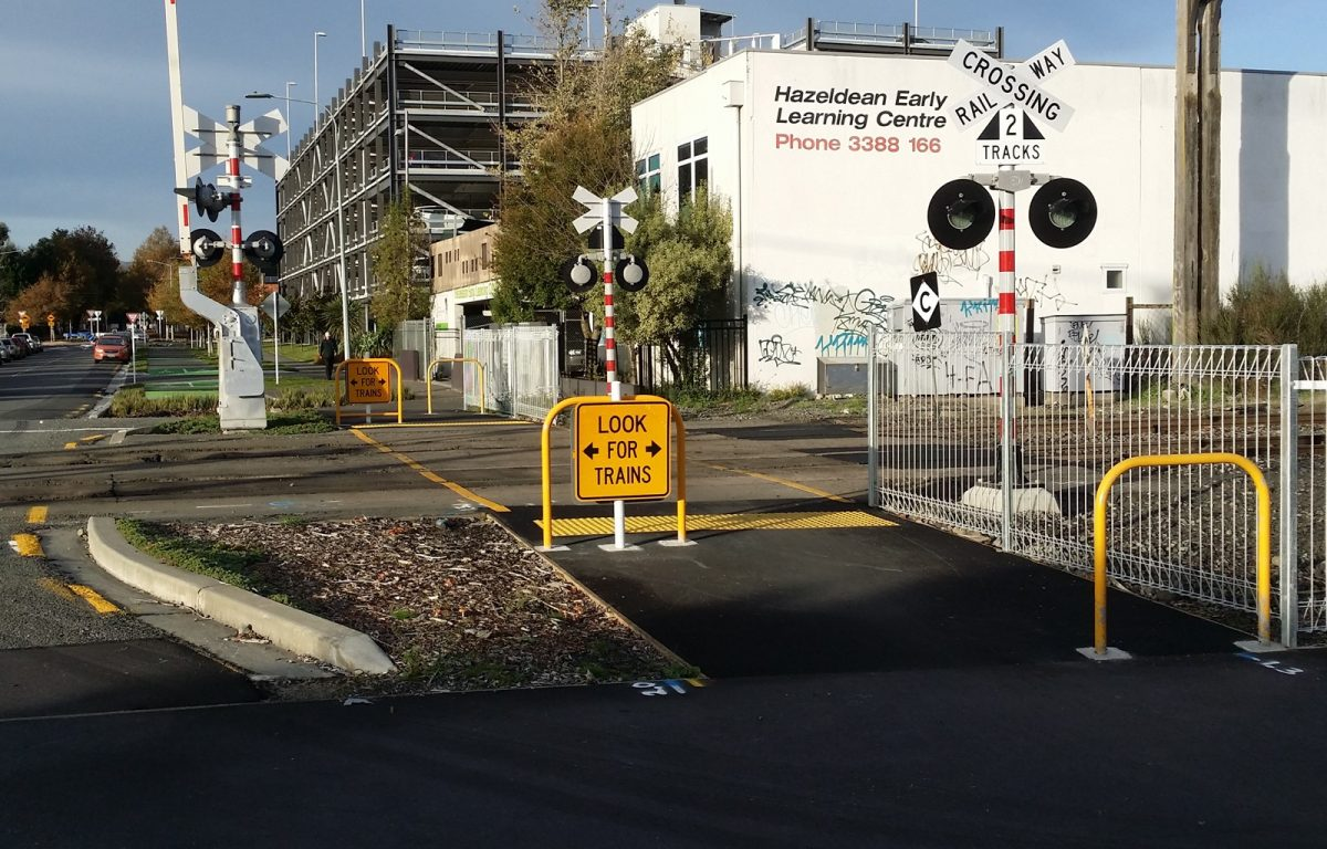 Photo of the Day: Cycleway Rail Crossings
