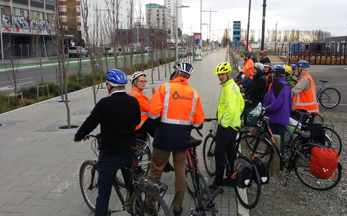 Biking in a rebuilding city – a chance to compare notes