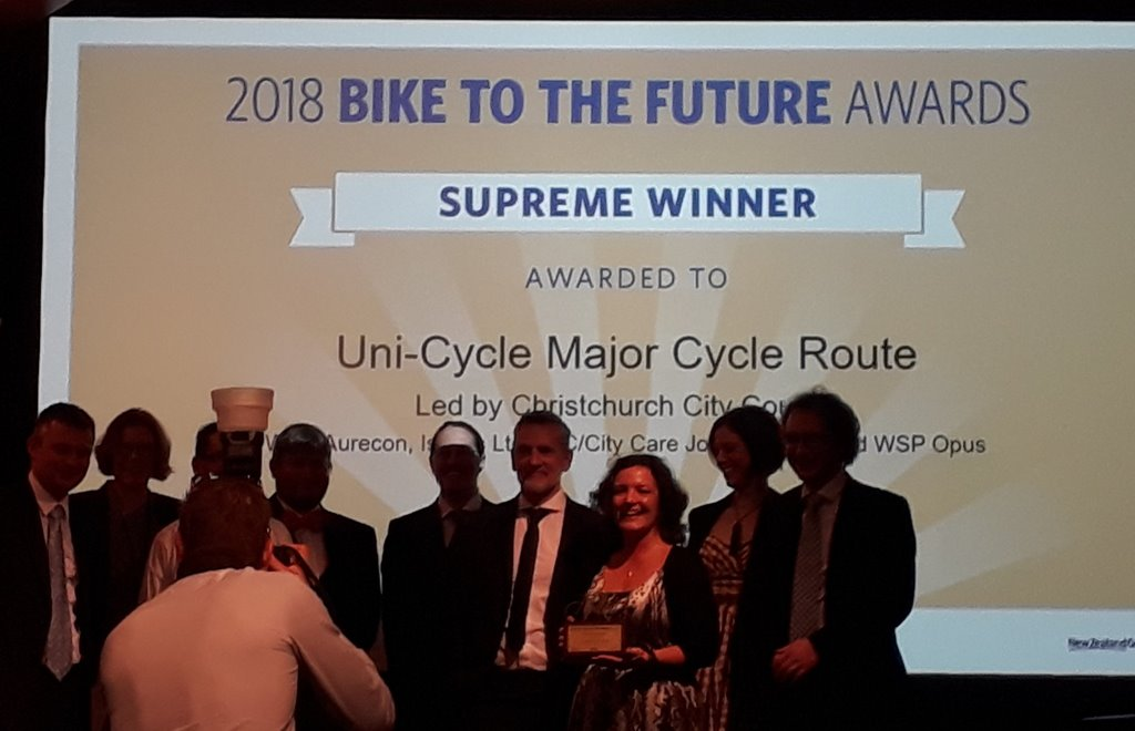 Christchurch wins big at 2018 Bike to the Future awards