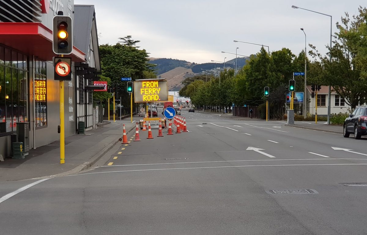Photo of the Day: Traffic lane closures