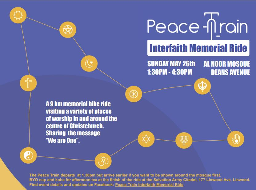 Peace Train Memorial Bike Ride 26th May