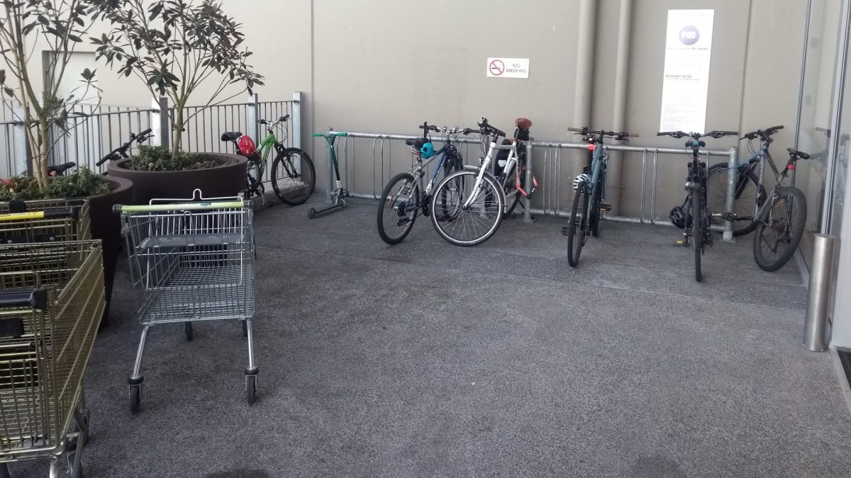 Guest Photo of the Day: Theory and Practice of Wheel-Bender Cycle Parking