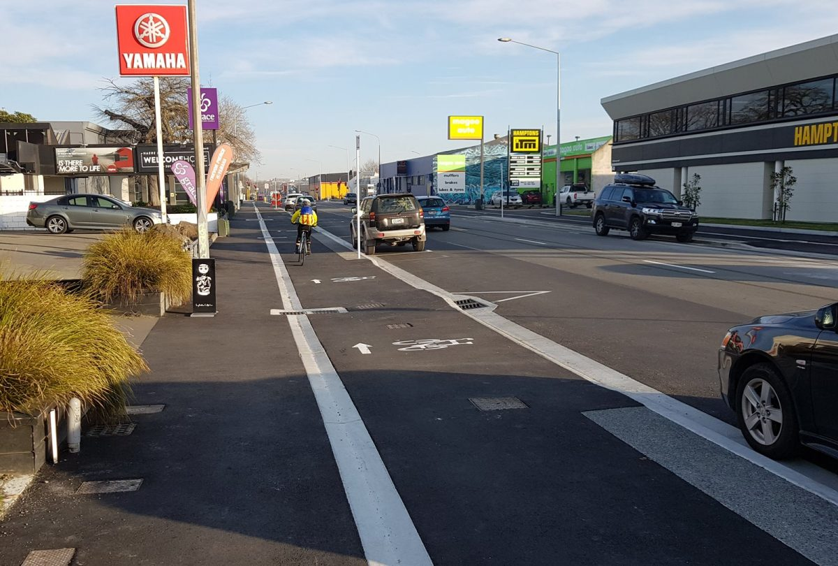 Photo of the Day: Ferry Road cycleway ready to go