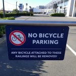 """Guest post: """"No bike parking"""" signs that don't provide an alternative"""