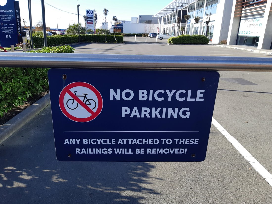 "Guest post: ""No bike parking"" signs that don't provide an alternative"