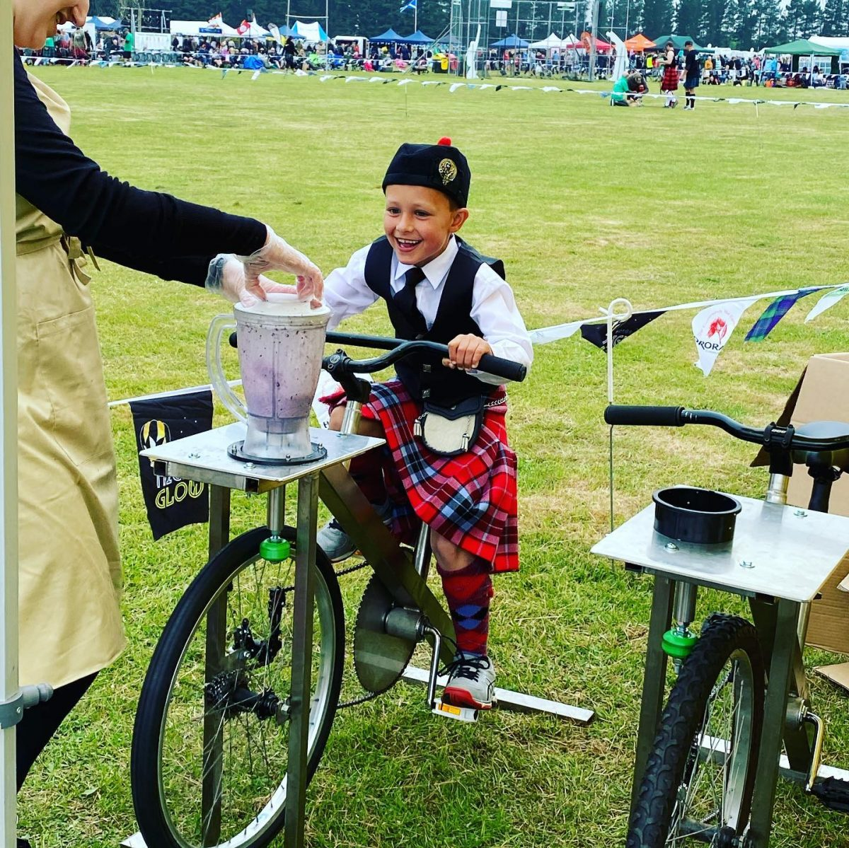 World Record for Bike Blended Smoothies?