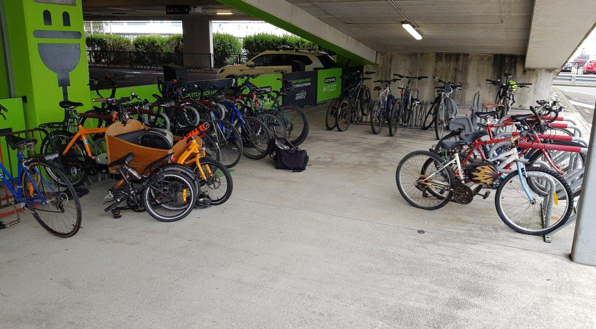 Chch Airport bike parking