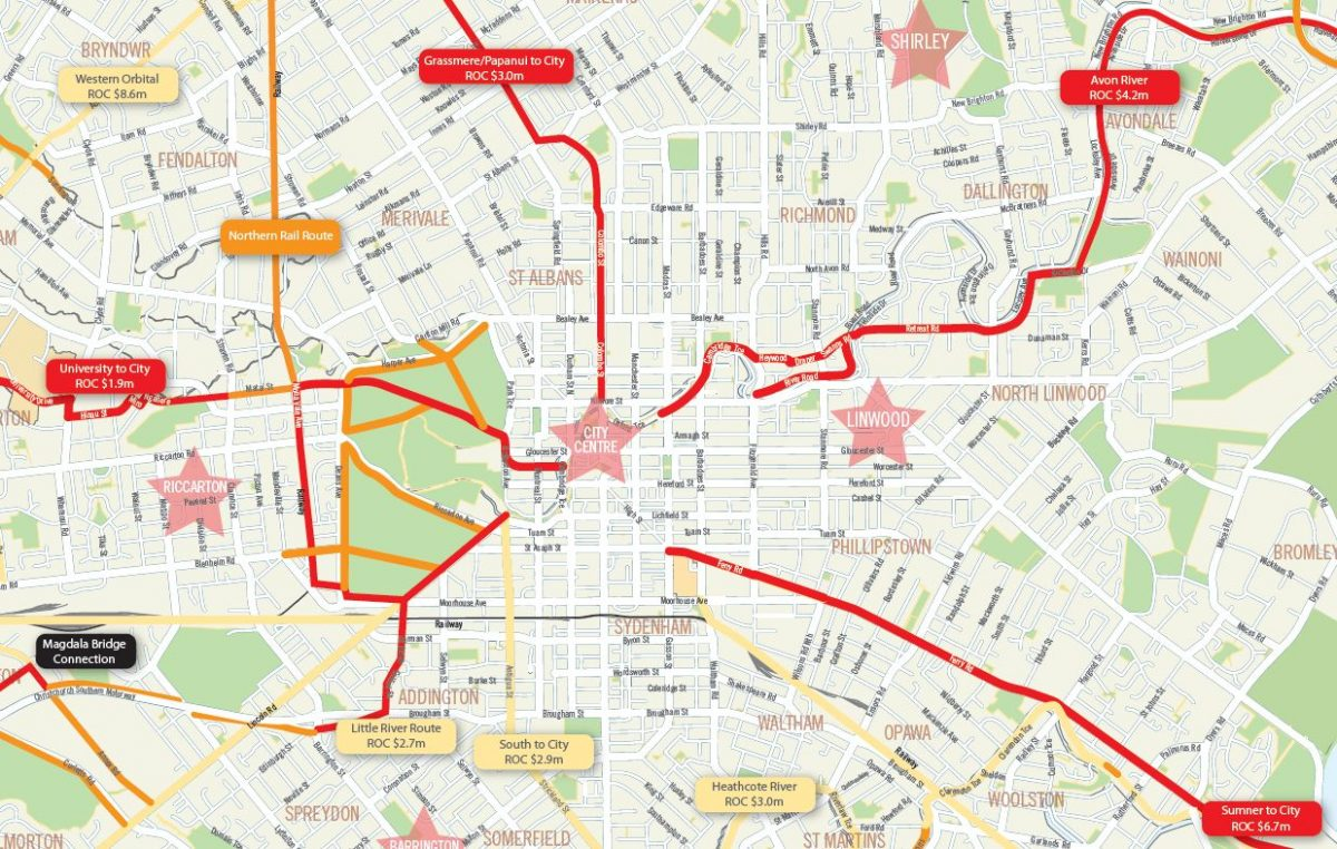 Priority Cycleways for Christchurch – Where should they be?