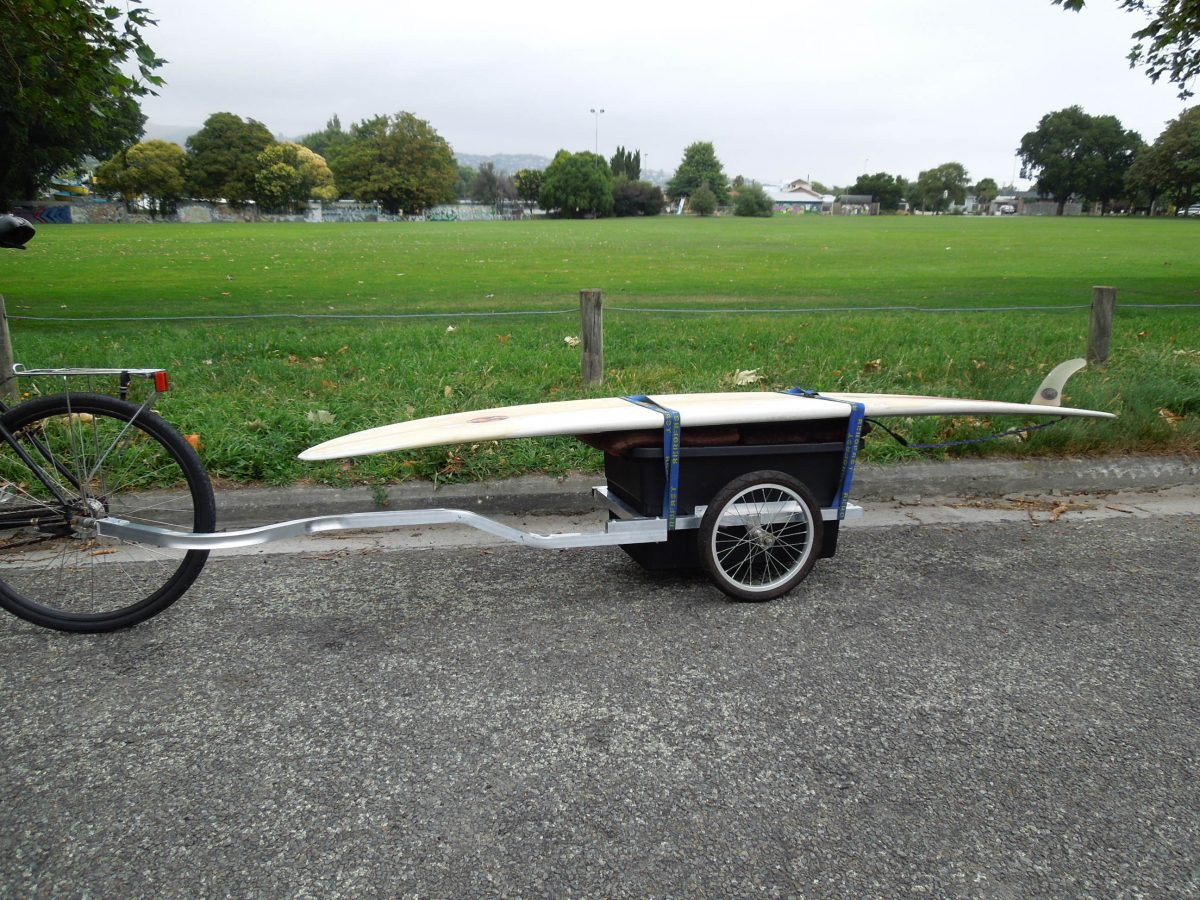 Cycle Tour NZ with a Surfboard